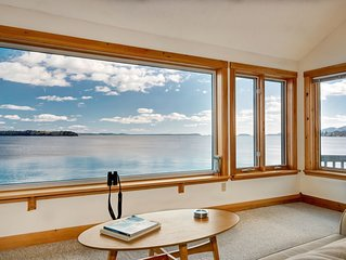 Water's Edge - Oceanfront Home with Water and Acadia Mountiain Views