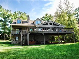 Lakefront Home w/Private Dock, Hot tub, and Fire Pit!