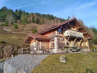 Chalet 9 personnes avec sauna, 5 minutes du centre et de Bresse Hohneck