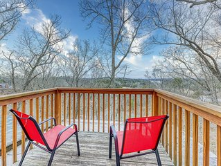 Classic dog-friendly cabin w/ lake views, hot tub, and shared pool access!