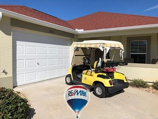GAS GOLF CART PRIVATE BACK YARD WITH GRILL