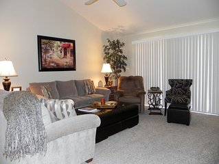 Beautiful, remodeled Home Away From Home with garage and furnished, tiled, patio