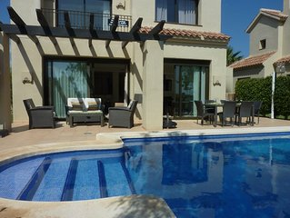 Roda Golf 3 Bed Villa private heated pool, front line golf course. Entire villa.