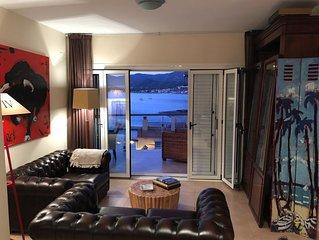 PENTHOUSE à 50 m de la mer & du parc naturel, (balcon 16m2 + Toit-terrasse 52m2)