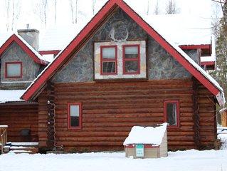 Alaskan Log Cabin w/ Hot Tub