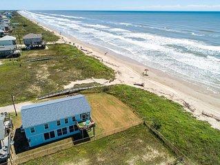 Octopus's Garden - Beachfront & Center! Screened Porches, Ocean Views!