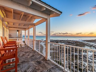 'A Wave From It All' ~ Beachfront with Private Heated Pool! Pool Table!