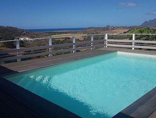 Charmante Villa a Sainte -Luce -3 ch- piscine -vue mer-pour 6 a 8 personnes