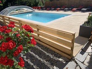 Maison T3  avec jacuzzi , piscine et jardin au cœur de ville