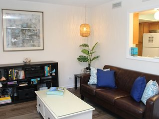 Tax Relief Week April 15 -> Open: Pet Friendly 2 BR condo near beach & village.