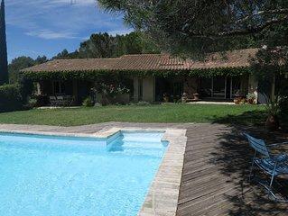 Grande villa, piscine,pres centre Aix en Provence. 3100€ semaine