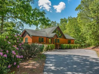 Family-friendly, luxury cabin w/ a private hot tub, game room, firepit, & views!