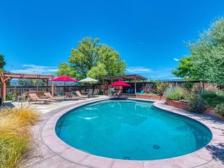 Beautiful Wine Country Retreat w/ New Pool & Kitchen, Game Room Barn & Views!