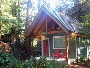 Newly built deluxe cabins, in a private redwood setting near the Smith River