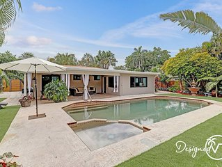 Long Term Stay Trendy Renovated 4 BR  Home w/ Heated Pool