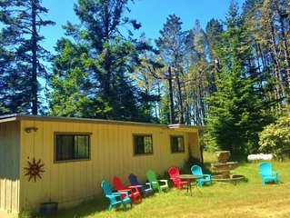 Meadowlark House on 50+ acre Mendocino Tranquility Meadows Nature Preserve
