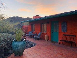 Tangerine Cactus Desert Cottage