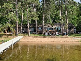 Awesome Gull Lake Beach Cabin w/ 2017 Sylvan Pontoon Included!