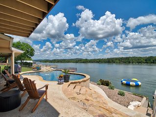 Llano Vista - Huge Bunk Room with Pool Table, Fire-Pit, Amazing View!