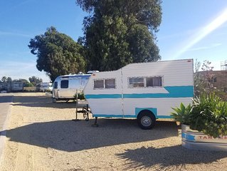 Vintage Camper delivered to your reserved campsite! Near Surf Beach & Downtown