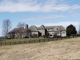 Luxury Chateau on beautiful farm in bluegrass state.