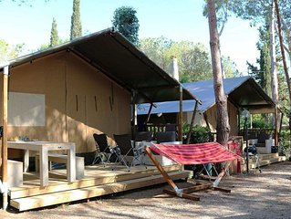 Luxe Sanitary 6 pers. Villatent at Family campsite Casa dei Prati