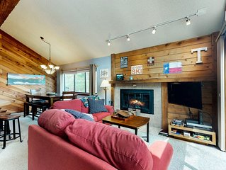 Spacious lodge-style duplex near hiking, skiing, and more!
