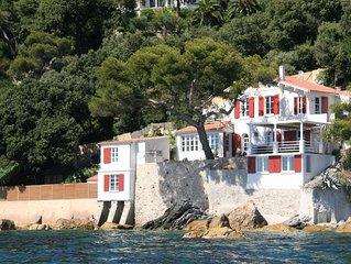 Villa pieds dans l'eau au Cap Brun - Toulon