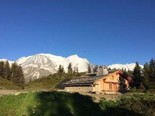 Chalet authentique d'exception au sommet des pistes - Accès en télécabine