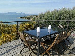 Maison avec magnifique vue sur la mer, a 100 metres de la plage