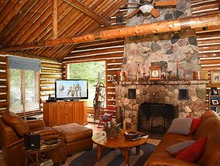 Spacious Log Home along the Boardman River