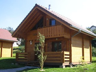 Wooden chalet with (dish)washer, close to a lake