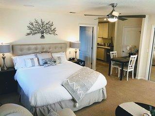 River Retreat Luxury Studio with Jacuzzi bath, Kitchen, near river.