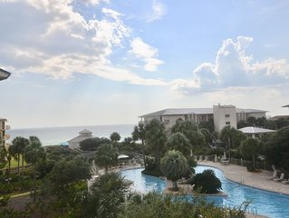 High Pointe Top floor, End unit 3BR/3BA w/amazing Gulf/Pool Views, Sleeps 10