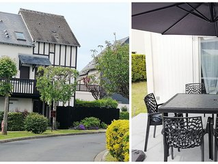 Appartement /Cottage-F2 en rez de jardin exposé S.O a 100 M de la Mer