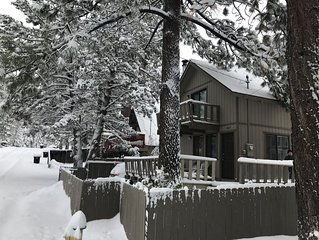 ROMANTIC House in the woods at trailhead.  Fireplace and large fenced yard.