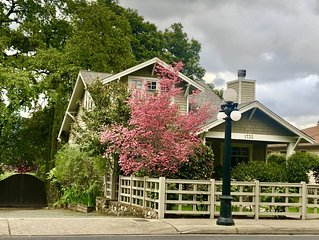 Downtown St. Helena retreat with pool, bocce ball and privacy. Permit #PL19012