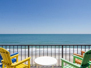 Large elegant oceanfront condo offering everything you will need