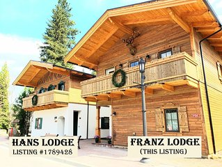 Franz Lodge / Downtown * Sleeps 26 * Large Groups Welcome! * Hot Tub * Pets