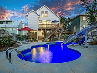 New Home, Top Five Ranking on VRBO, Oceanview, Private Yard, Heated Pool, Slide.