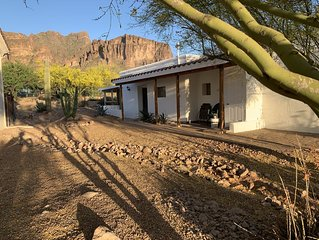 Desert dwelling casita located at the base of the Superstition Mountains.