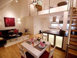 Galeriewohnung (55qm) mit Küche und WLAN