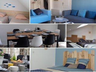 NOUVEAU Appartement duplex avec terrasse entre mer et remparts