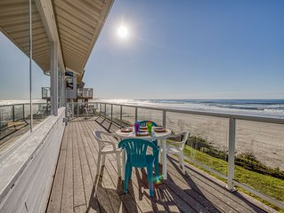 Vintage Charm with a Modern Flair in this Oceanfront Beauty in Roads End!