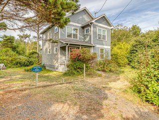 Two-Story Home Across the Street from the Beach with Yaquina Head Views!