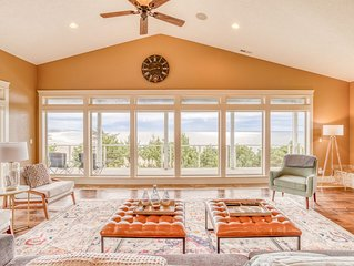 Multi-decked, Contemporary Oceanfront Stunner has Four Bedrooms, Five Baths, Hot