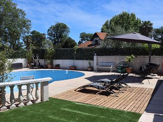 4P 3ch 120m² avec terrasse 100m² et piscine 50m² privatives mer à 500m