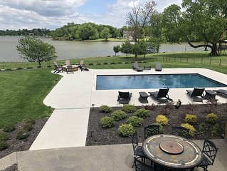 Lakefront beautiful home with pool!