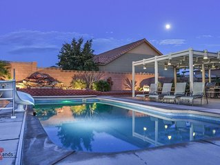 4242 Sand Hollow | Private Pool and Hot Tub, Water Slide, Playground, Extra Park