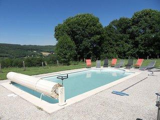 Gîte 8 pers, avec piscine privée, en pleine nature